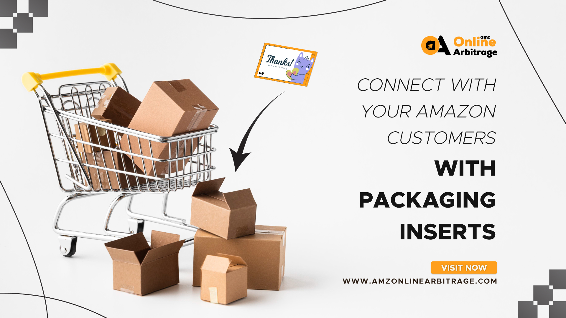 CONNECT WITH YOUR AMAZON CUSTOMERS WITH PACKAGING INSERTS