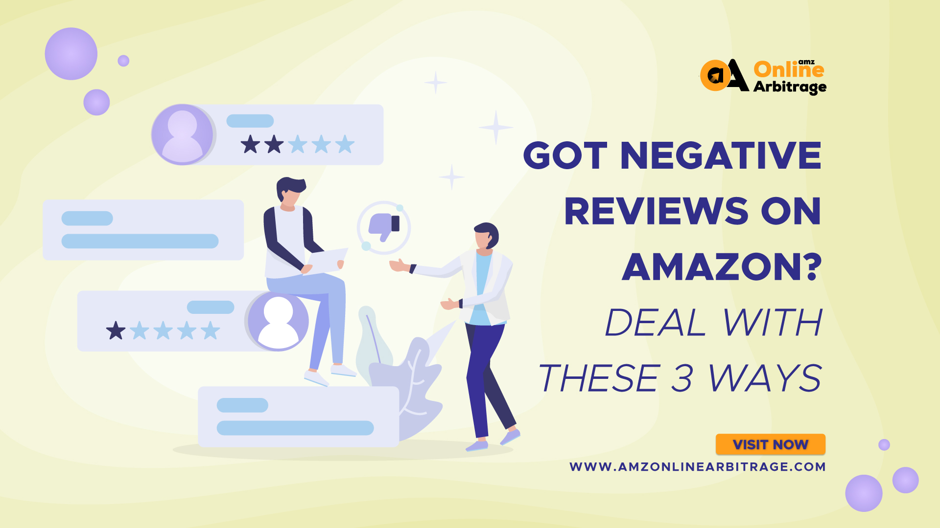 GOT NEGATIVE REVIEWS ON AMAZON? DEAL WITH THESE 3 WAYS