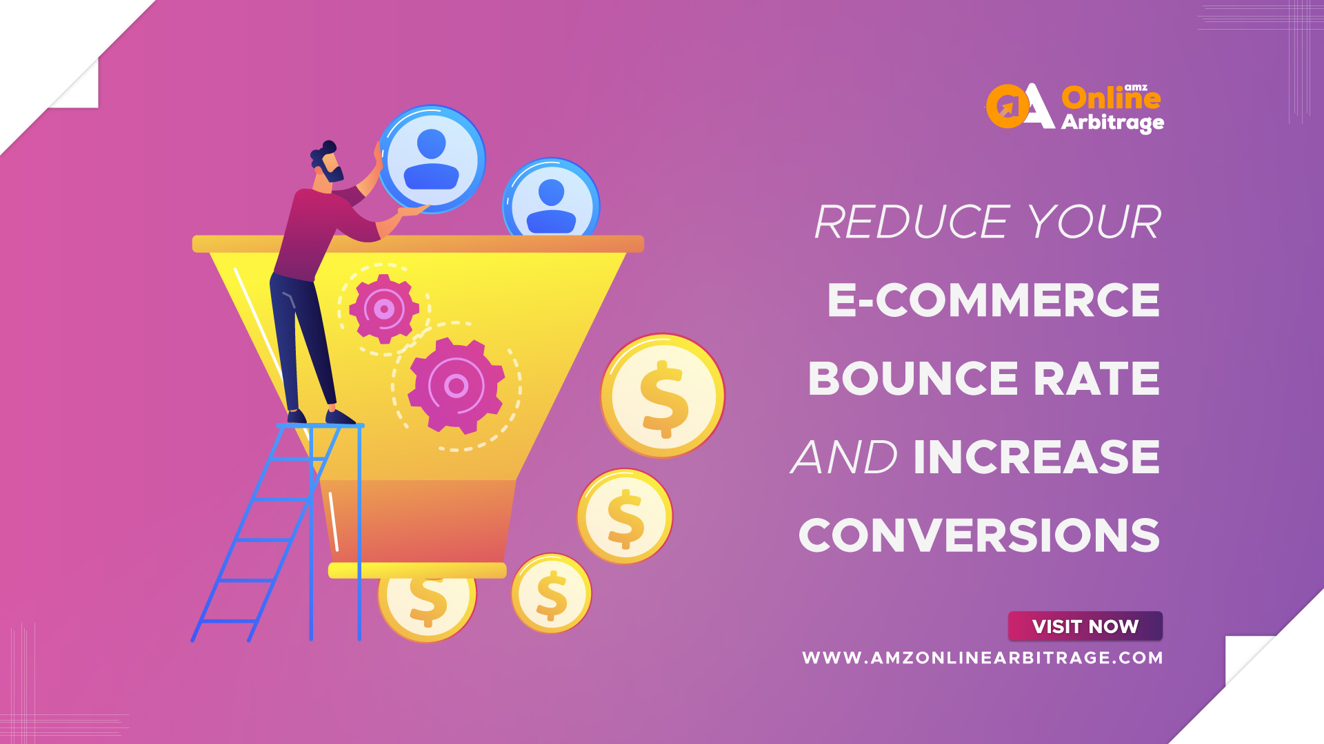 REDUCE YOUR E-COMMERCE BOUNCE RATE AND INCREASE CONVERSIONS